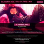 Worship Mistress Christina Premium Porn Passwords